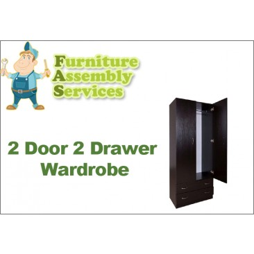 2 Doors 2 Drawers Wardrobe Assembly Service