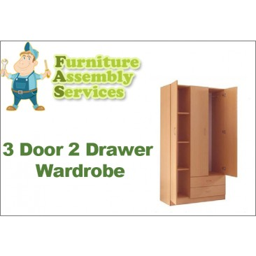 3 Doors 2 Drawers Wardrobe Assembly Service