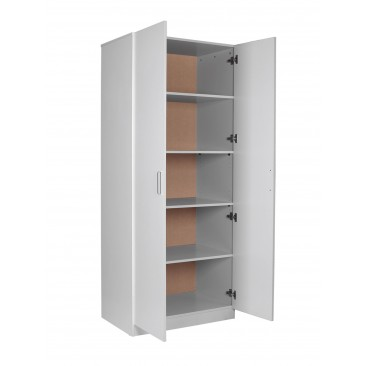 Redfern Big Size Pantry 5 Shelves Wardrobe/Storage/Cabinet - (Black / White)