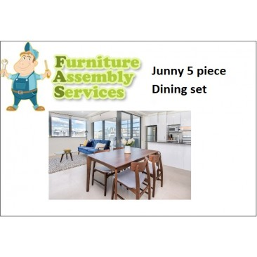 Junny 5-piece Dining Set Assembly Service