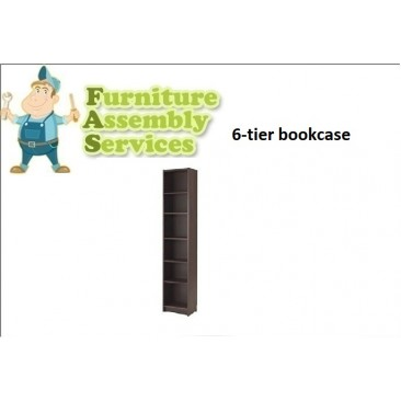6-tiers Bookcase Assembly Service
