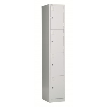 RAPID GLA305/4 Steel Storage - GO Locker 4 Door,Assembled, Fast Delivery
