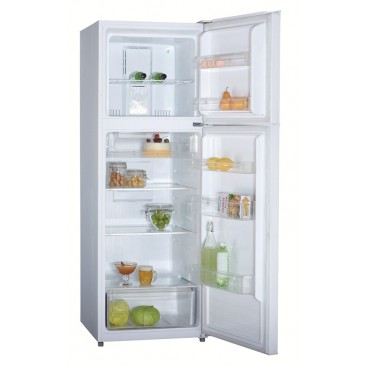 HEQS 366L Double Door Fridge - No Frost, White, Brand new with 1 year warranty