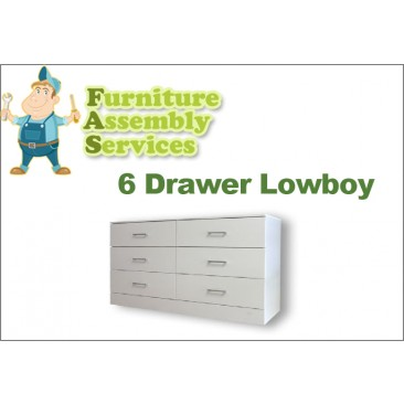 6 Drawers Lowboy Assembly Service