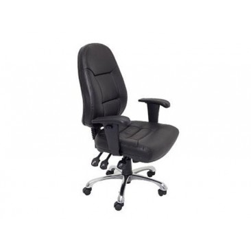 Rapidline Ergonomic Chair PU300 - Chrome Base/Adjustable Arms
