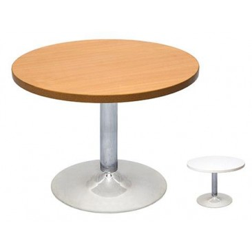 Rapid Chrome Base Coffee Table CCT6- 425H with 600 Round Top, Beech/Cherry/White