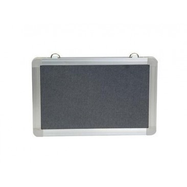 Rapid Pin Board - Grey Fabric Cover, Aluminium Frame,Suitable For Velcro/Pins