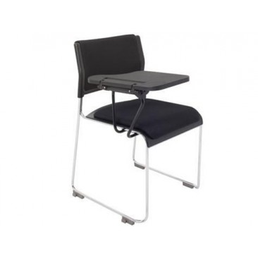 Rapid Conference or Events Chair WIMBLEDON with Tablet and Cushions - Stackable/Linking