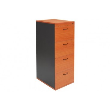 Rapid Worker Filing Cabinet - 3 or 4 Drawers, Beech / Cherry, Assembled