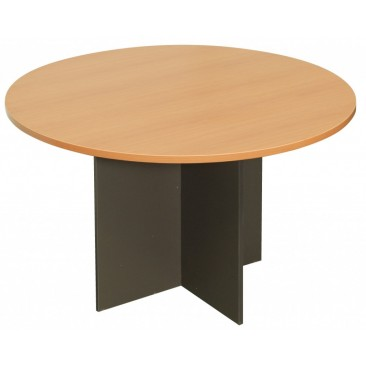 Rapid Worker Round Table - Cherry / Beech / Grey