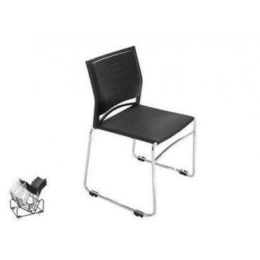 Rapid Visitor's Chair  ZEST - Chrome frame/Stackable/Linking