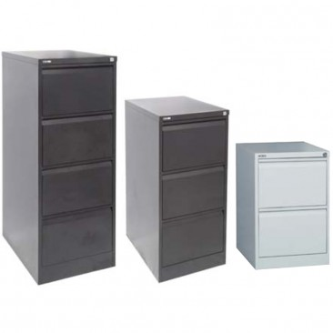 Rapid GFCA 2-4 Drawer Filing Cabinet , Steel Storage, Assembled