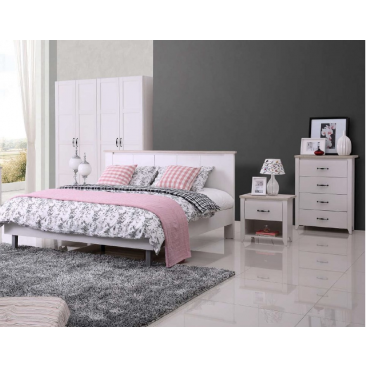 Modern Style 4 Piece Bedroom Package, Double/Queen