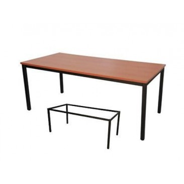 Rapid Steel Frame Table SFT - Beech / Cherry / Grey / White Top, Black Legs
