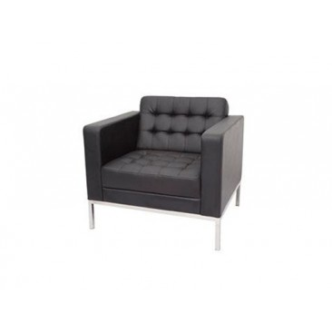 Rapid Venus Single Seat - Stainless Steel Frame/Black PU Finish
