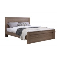 Jason Wooden Bed Double/Queen- DarkOak/Walnut