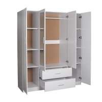 Redfern 4 Doors 2 Drawers Wardrobe