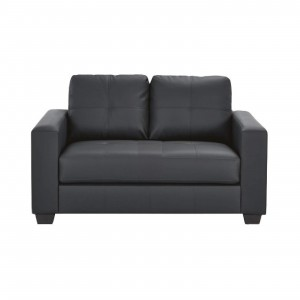 HEQS 2 Seater PU Leather Sofa - Black, Comfortable & Cheap & Fast Delivery