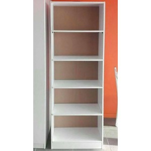 Redfern 5 Tier Bookcase/BookShelf/Storage Unit with Adjustable Shelves - (Black / White)