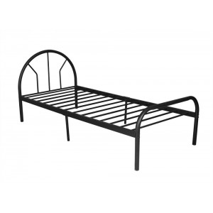 PriceWorth Chippen Single Bed C103 - (Black), Sturdy Metal Frame, 6 Legs