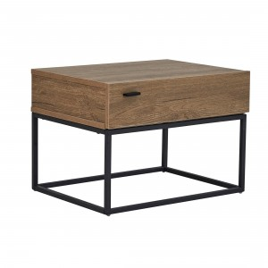 Simon Bedside Table with Metal Legs