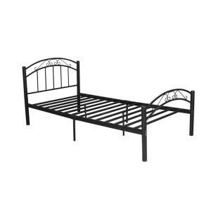 Cleveland King Single Bed Frame - (Black), Sturdy Metal Frame, 6 Legs