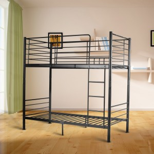 City Single/Single and King Single/King Single Bunk Bed - White/Black