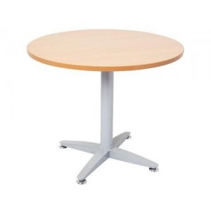 Rapid 4 Star Round Table - 900 or 1200 Diameter, Beech / Cherry / Grey