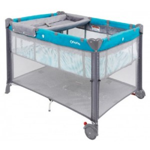 Baby Meep 3 In 1 Travel Cot Teal