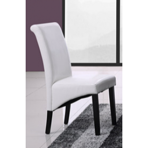 Aaron Dining Chair - White PU Leather