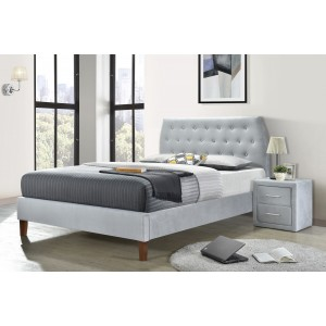 Angela Velvet Fabric Double/Queen/King Bed