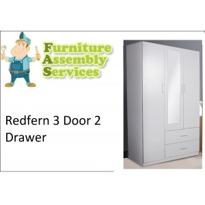 Redfern 3 Door 2 Drawer Wardrobe Assembly Service