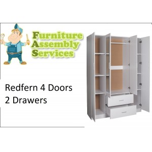 Redfern 4 Doors 2 Drawers Wardrobe Assembly Service
