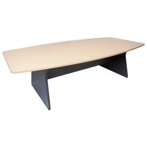 Rapid Worker Boardroom Table CMT3012 - Beech / Cherry Top, Boat Shape