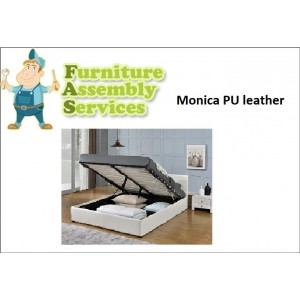 Monica Gas Lift PU Leather Double/Queen Bed Assembly Service