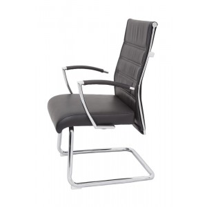 Rapid Executive Chair CL2000V - High Leather Back, Chrome Frame & Armrest