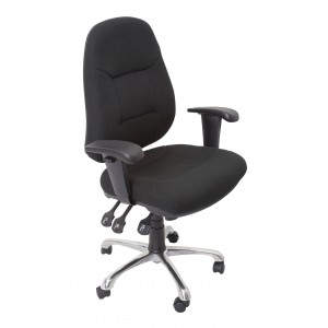 Rapid Operator Chair F300-High Back Fully Ergonomic, Adjustable Arms