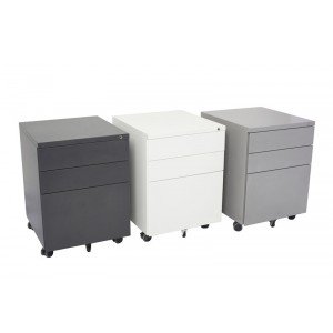 Rapid Steel Storage 3 Drawer Mobile Pedestal GMP3