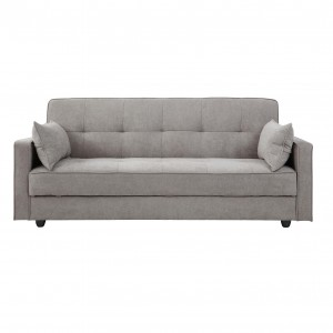 Junny 3 Seater Sofa Bed with Storage - Grey/Blue