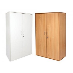 Rapid Span Cupboard / Storage SP2FD18 - Lockable, Beech / White