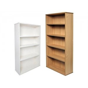 Rapid Office Bookcase SPBC - White/beech,Adjustable Shelves
