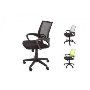 Rapid Mesh Chair  VESTA - Fully Ergonomic, Black / Silver / Lime