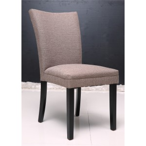 Linda Dining Chair with Brown PU & Foam Seat