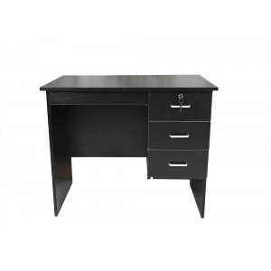 Redfern Study Desk With 3 Drawers 3 Sizes White/Black