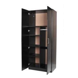 Redfern Big Size Pantry Combo 2 Door 4 Shelves Wardrobe/Storage - (Black / White)