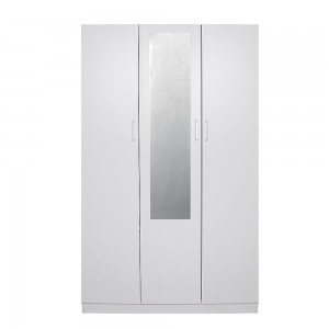Redfern 3 Doors Combo Wardrobe with Mirror-White