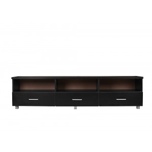 Tech 3 Drawers 3 Shelves Entertainment TV Unit in Black, 1.8M Wide
