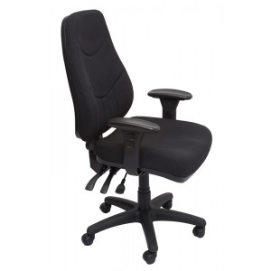 Rapid Executive Chair LANDERF - Black Fabric, Heavy Duty