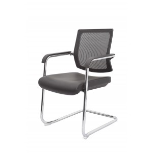 Rapid Mesh Chair LRMV - Cantilever Chrome Frame, PU Seat