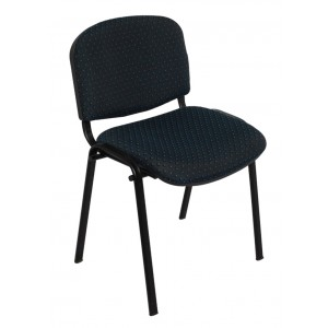 Rapid Visitor's Chair NOVA - Black Frame & Poly Back